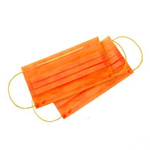 Маска одноразовая оранжевая, 1 шт