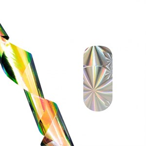 Фольга для литья TNL серебряная абстракция